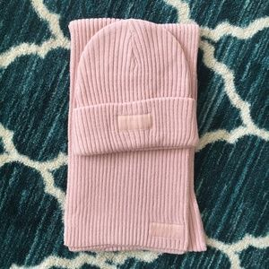BRAND NEW Victorias secret pink beanie and scarf